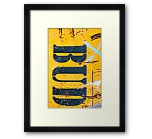 BUD - (vertical) Framed Print