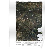USGS Topo Map Washington State WA Twin Lakes 20110413 TM Poster