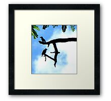 2 Birds Guarding Their Branch Framed Print