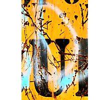 Sprayed Out U Photographic Print