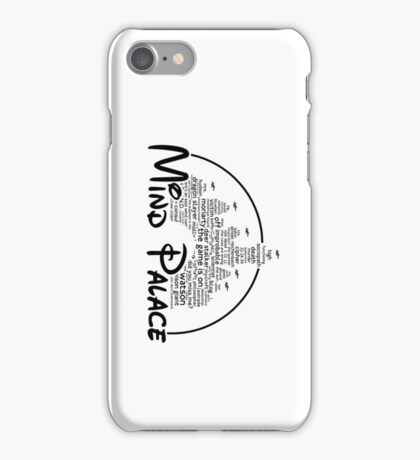 Mind Palace - (black text) iPhone Case/Skin