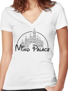 Mind Palace - (black text) Women's Fitted V-Neck T-Shirt