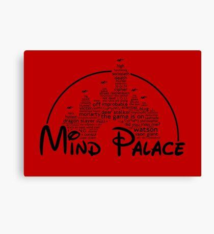 Mind Palace - (black text) Canvas Print