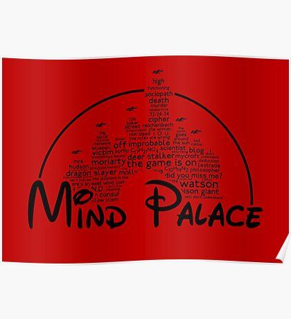 Mind Palace - (black text) Poster