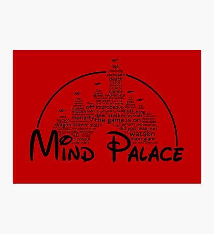 Mind Palace - (black text) Photographic Print