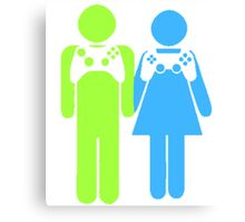Gamer Couple Canvas Print