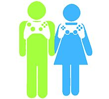 Gamer Couple Photographic Print