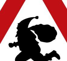 Santa Claus Warning Sign, Norway Sticker