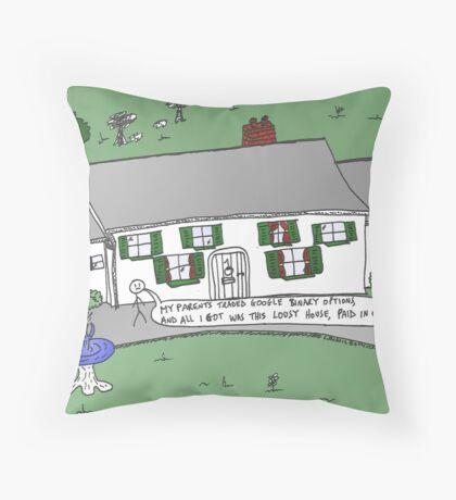 binary options news caricature Trading Google Throw Pillow