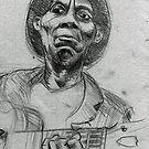 Portrait of Mississipi John Hurt by urbanmonk