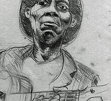 Portrait of Mississipi John Hurt by urbanmonk