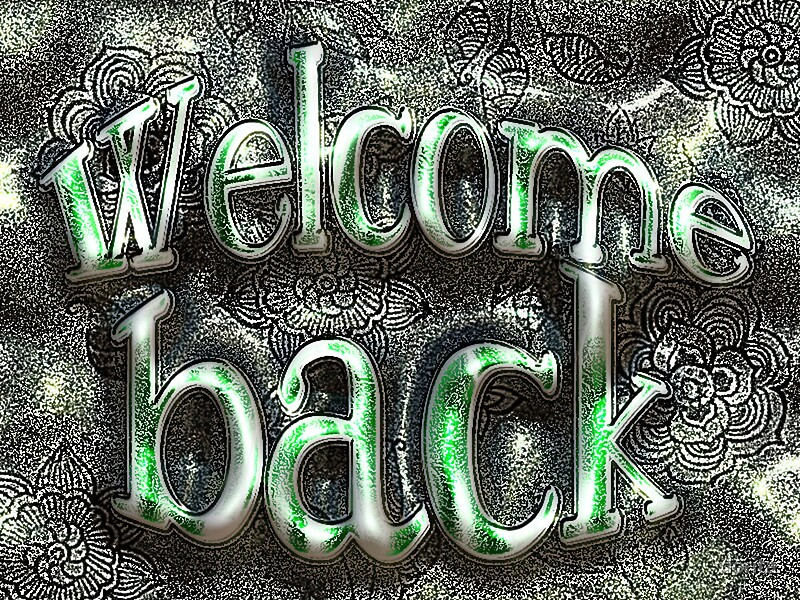 welcome back greeting cards by doris b lambling 39 s colorgetics redbubble. Black Bedroom Furniture Sets. Home Design Ideas