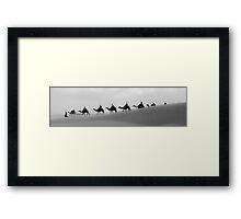 Camels Crossing  Framed Print