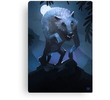 Hungry werewolf Canvas Print