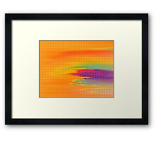 Colorful Retro Dots Painting Abstract Art Wrapped Canvas Framed Print