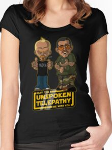 Unspoken Telepathy Women's Fitted Scoop T-Shirt