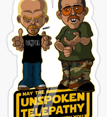 Unspoken Telepathy Sticker