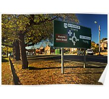Mid Western Highway at Grenfell Poster