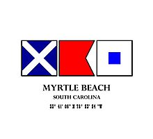 Myrtle Beach Nautical Flag Photographic Print