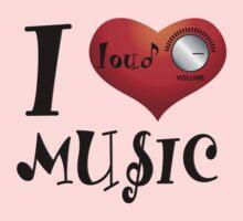 I Love Loud Music Kids Clothes