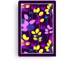 Foliage Lilac & Lemon [iPhone / iPod Case and Print] Canvas Print