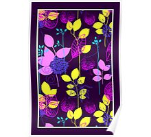 Foliage Lilac & Lemon [iPhone / iPod Case and Print] Poster
