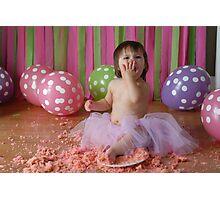Cake Smash Photographic Print