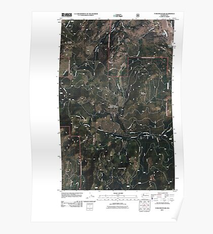 USGS Topo Map Washington State WA Tunk Mountain 20110429 TM Poster