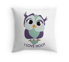 Owl I Love Hoot Throw Pillow