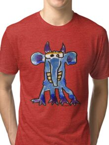 Funny Cartoon MonSTAR Monster 005 Tri-blend T-Shirt