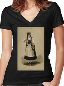 Fancy dresses described or What to wear at fancy balls by Ardern Holt 272 Swiss Women's Fitted V-Neck T-Shirt