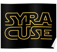 Syracuse in Star Wars font Poster