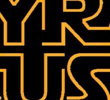 Syracuse in Star Wars font Sticker