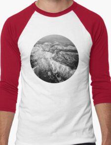 Winter Mountain Range Men's Baseball ¾ T-Shirt