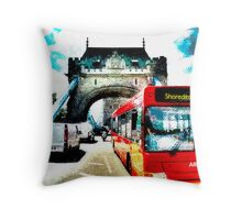 Getting abstracted by London traffic Throw Pillow