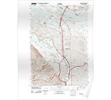 USGS Topo Map Oregon OR Portland 20110901 TM Poster