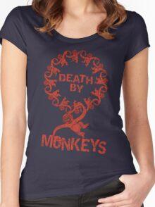 Death by 12 monkeys Women's Fitted Scoop T-Shirt