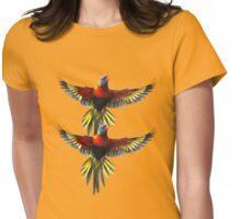 rainbow lorikeet t-shirt Womens Fitted T-Shirt