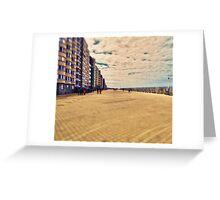 Ostende beachwalk in Belgium Greeting Card