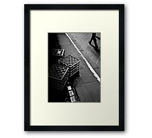 The lonely life of a milk crate (watching the world go by) Framed Print