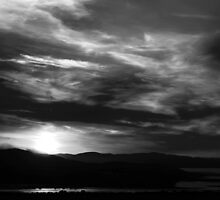 Sunset in black and white by Agnes McGuinness