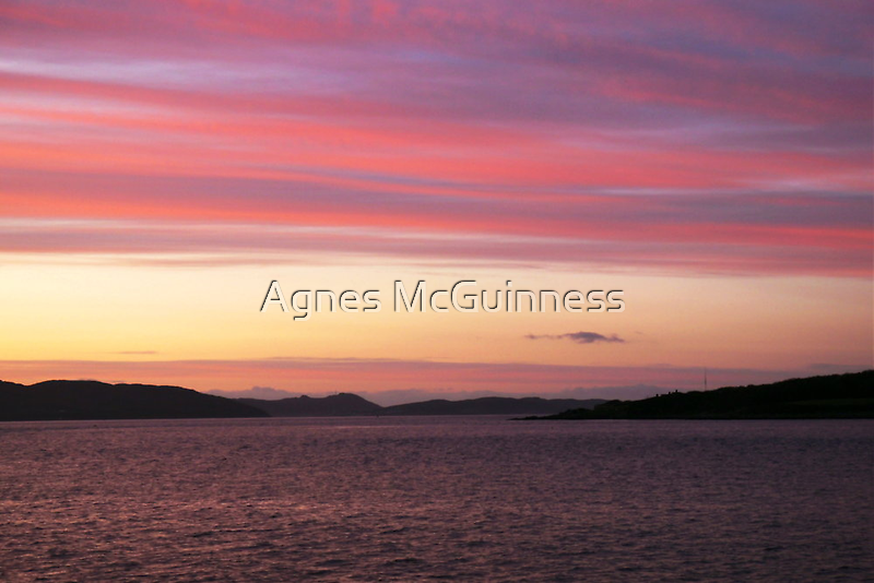 Pastel sunset by Agnes McGuinness