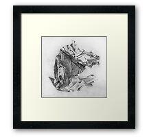crumpled paper Framed Print