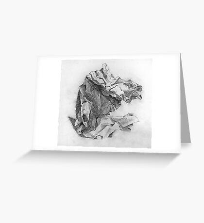 crumpled paper Greeting Card