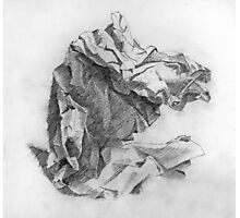 crumpled paper Photographic Print