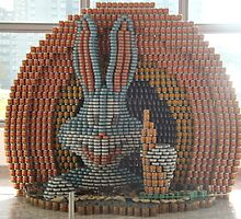 Bugs Bunny Sculpture, Canstruction, Sculptures Made of Cans, New York City by lenspiro