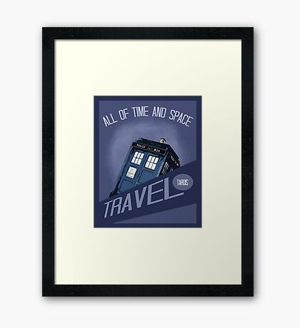Travel Tardis Framed Print
