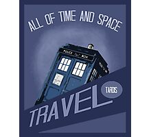 Travel Tardis Photographic Print