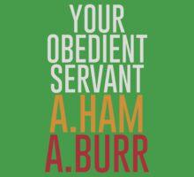 Your Obedient Servant, A.Ham & A.Burr One Piece - Short Sleeve