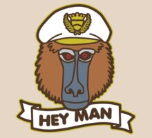 Hey Man Baboon by DetourShirts
